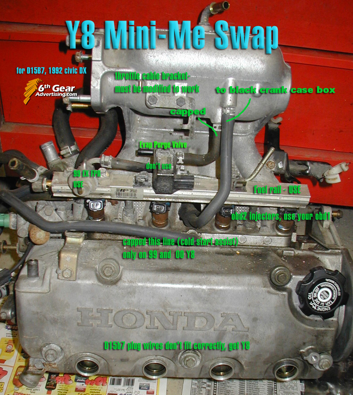 Civic Eg View Topic How To Do A Mini Me Swap D16y7 Wiring Harness Diagram Image