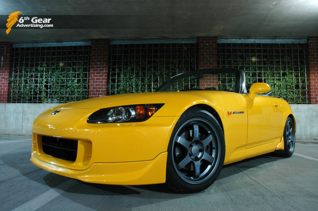 S2000 shot in a parking garage.