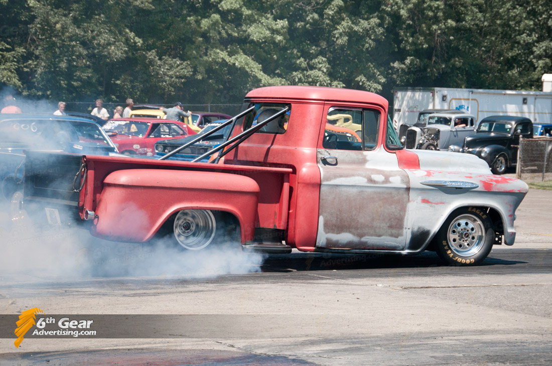 1956 Chevy Pickup Burnout