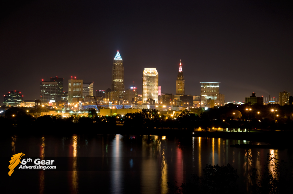 Cleveland, Ohio night skyline.