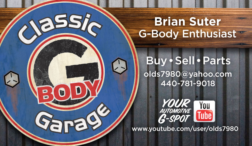Classic G-Body Garage business card
