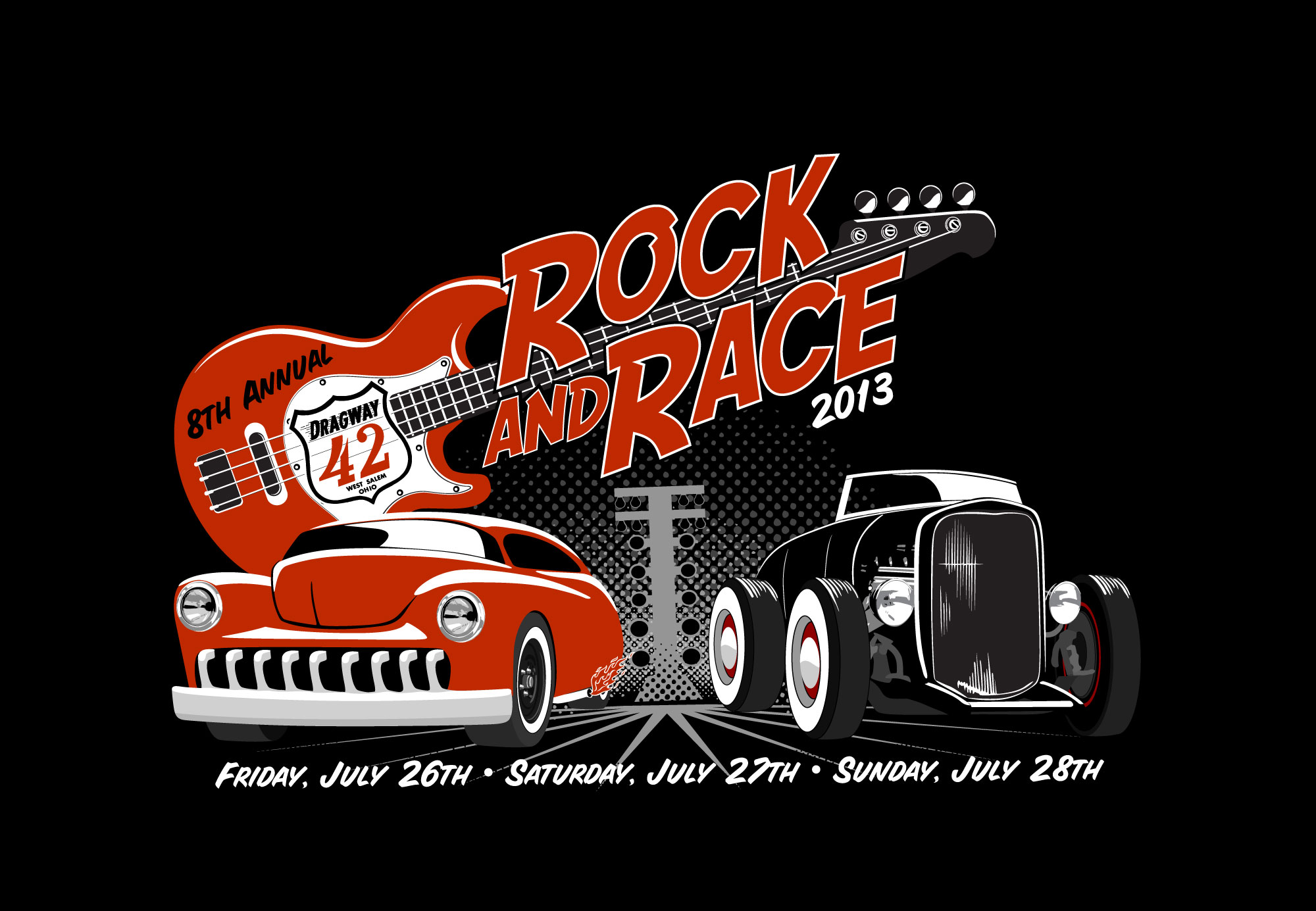 Dragway 42 Rock and Race Logo