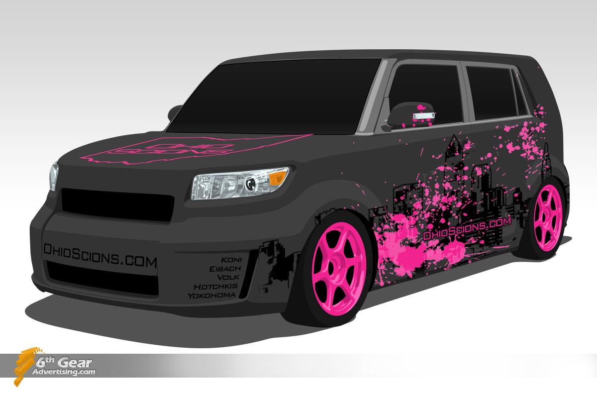 Scion xB Graphics, designed for Ohio Scions